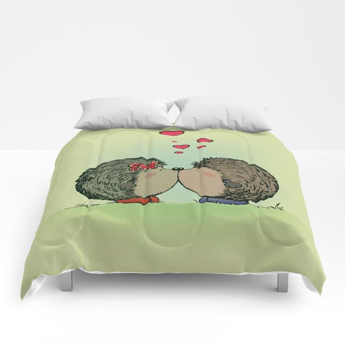 Hedgehogs in love Comforters