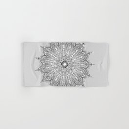 Gray Swirl Mandala light gray Hand & Bath Towel