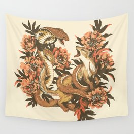 Snake & Mongoose Wall Tapestry