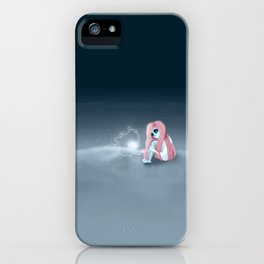 I'm all alone in a world that seems so dark iPhone Case