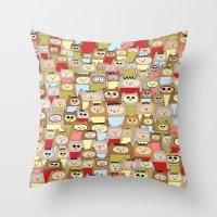 bears Throw Pillows featuring bears! by Asja Boros