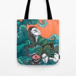 Breathing underwater Tote Bag
