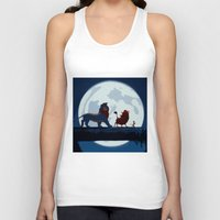 hakuna Tank Tops featuring Lion King Stylish Painting by Bolin Cradley Art