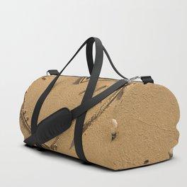 Heart drawn on the sand Duffle Bag