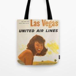 Vintage Travel Poster - Vegas Baby Tote Bag