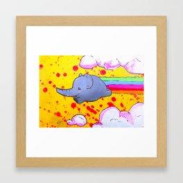 Elphant Rainbow Blast! Framed Art Print
