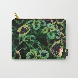 Green Leaf Flowers Carry-All Pouch