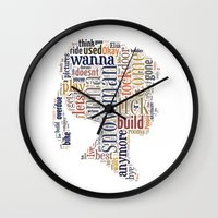 anna Wall Clocks featuring Anna by MollyW