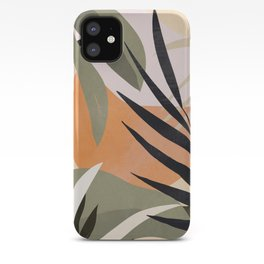 Abstract Art Tropical Leaves 2 iPhone Case