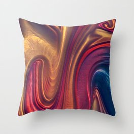 Red Abstract 4 Throw Pillow