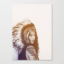 Tribal Girl, Photography Canvas Print