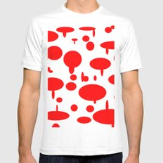 Red Disaster Mens Fitted Tee MEDIUM White