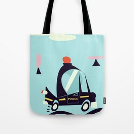 Cartoon Police Car Tote Bag