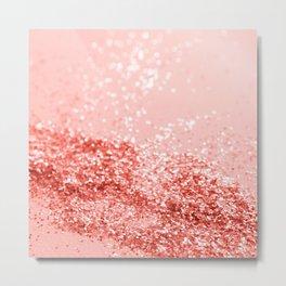 Sparkling Living Coral Lady Glitter #2 #shiny #decor #art #society6 Metal Print