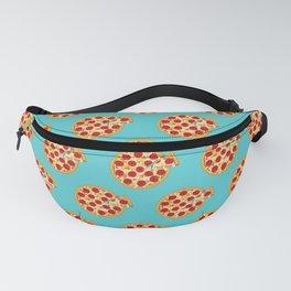 Fun salami pizza pie pattern, blue, cyan, pizza pattern Fanny Pack