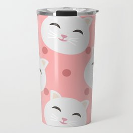 Cats pattern background Travel Mug