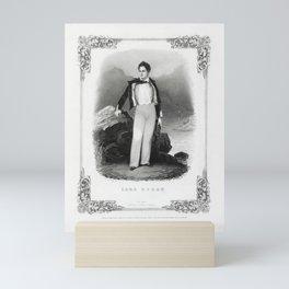 Lord Byron Lithograph Portrait - 1840 Mini Art Print