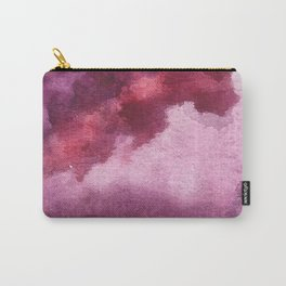 Blushing [5]: a minimal abstract watercolor and ink piece in shades of purple and red Carry-All Pouch