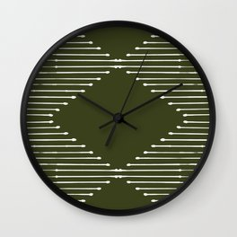 Geo (Olive Green) Wall Clock