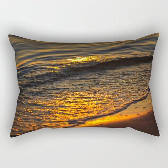Gold Waters Rectangular Pillow