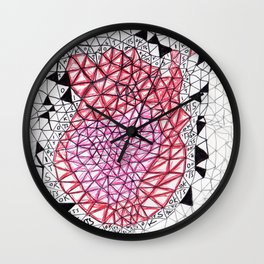 """ITS OK"" by RenPenCreations Wall Clock"