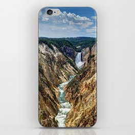 Grand Canyon of Yellowstone River and Lower Falls from Artist Point iPhone Skin