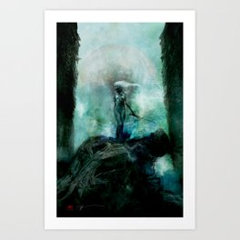 Silent Leaves Nine Art Print