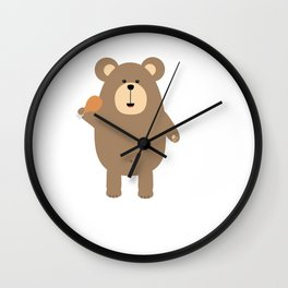 Brown Bear with Wall Clock