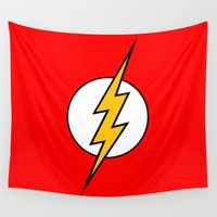 flash Wall Tapestries featuring Flash by Merioris