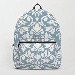 Flourish Damask Art I Cream on Blue Backpack