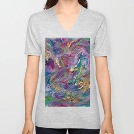 Abstract epoxy Art, Resin Art, Resin Painting, Unisex V-Neck
