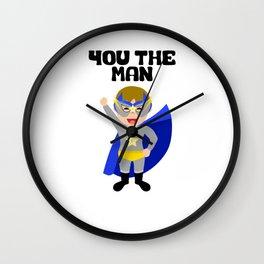You The Man Wall Clock