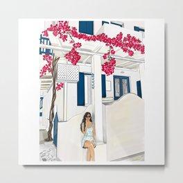 Summertime in Mykonos Metal Print