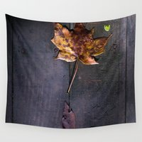 indiana Wall Tapestries featuring Autumn Leaves in Indiana by Amy J Smith Photography