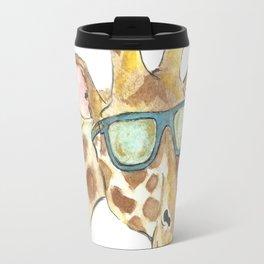 giraffe in sunglasses Travel Mug