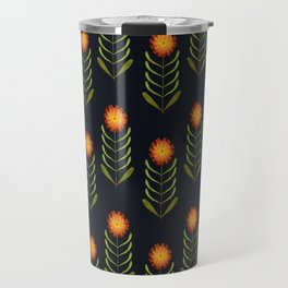 Wildflowers: Hawkweed Pattern Travel Mug