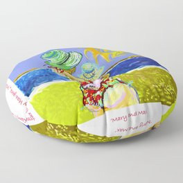 'Mary and Max' (Saw Sea Art Series) Floor Pillow