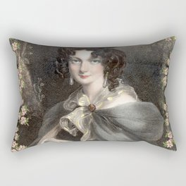 vintage portrait of French woman Rectangular Pillow