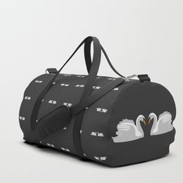 moonlight swans Duffle Bag