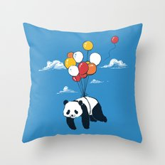 Flying Panda Throw Pillow