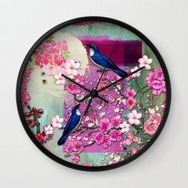 Meeting in the Garden Wall Clock