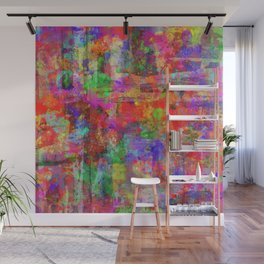 Vibrant Chaos - Mixed Colour Abstract Wall Mural