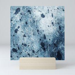 Water Blue Splatter Mini Art Print