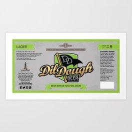 DilDough Beer Label Art Print