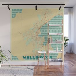 Wellington Map Retro Wall Mural
