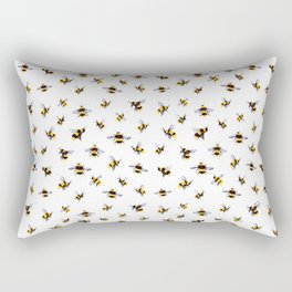 Bumblee Bee Watercolor Pattern Rectangular Pillow