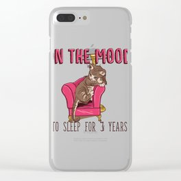 In The Mood To Sleep For 3 Years (Cat) Clear iPhone Case