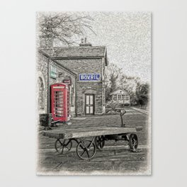 Hadlow Road Popped and Painted Canvas Print