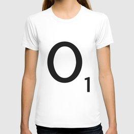 Letter O - Custom Scrabble Letter Tile Art - Scrabble O Initial T-shirt