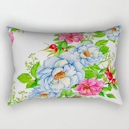 Vintage Floral Pattern No. 7 Rectangular Pillow